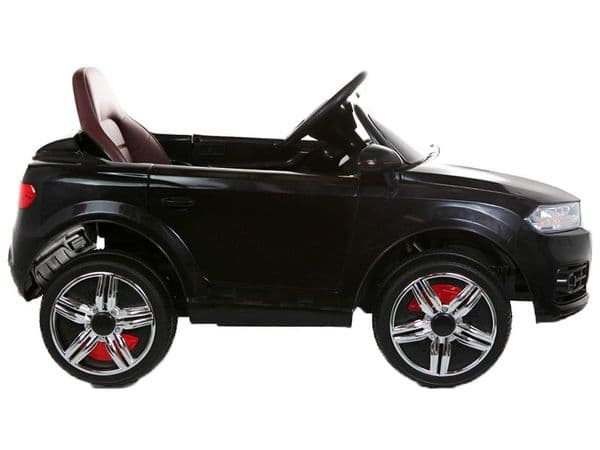 Black Audi Q7 Style Kids Toy Jeep   Midi Size Sit & Ride-In Car 12v Battery Powered